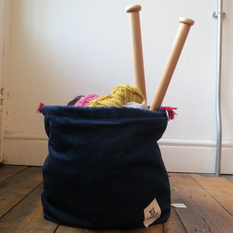 Wild Knitting Bag