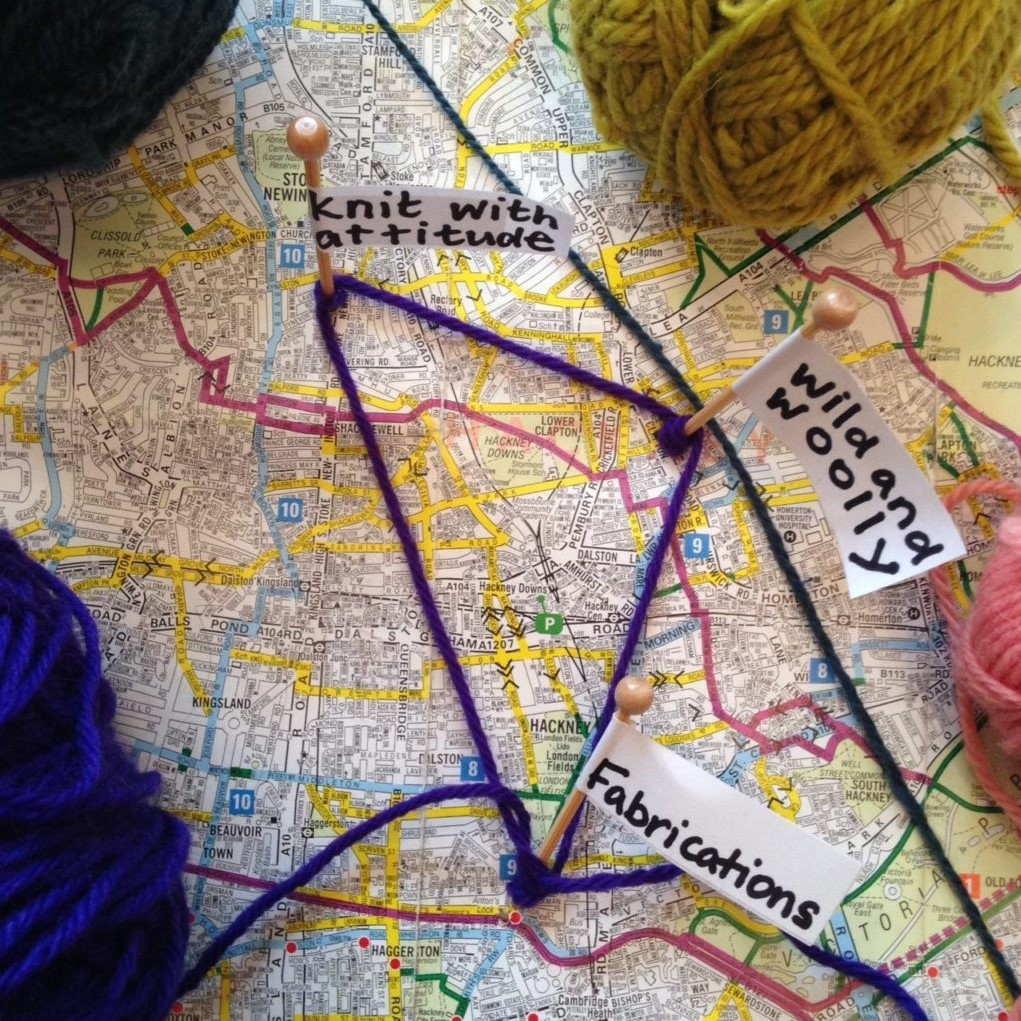 Knitting Events London : World wide knit in public day treasure hunt wild and woolly