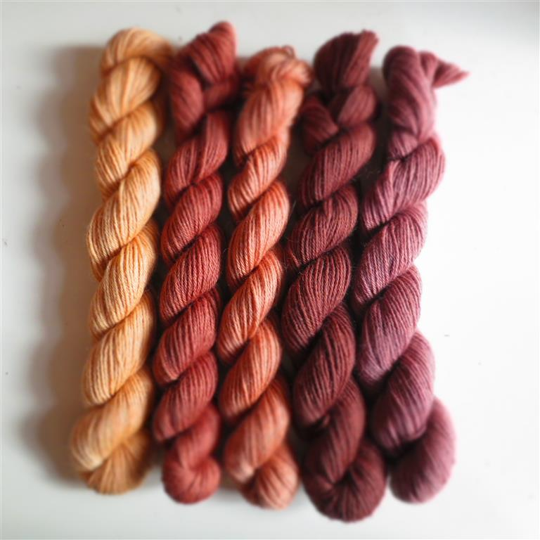 Annabel Williams Naturally Dyed Corriedale Sock Mini Set