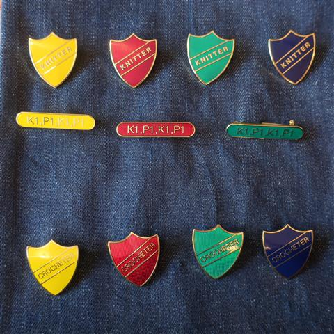 Knitter Prefect Brooches