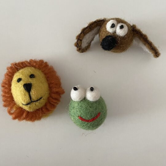 felted animal faces